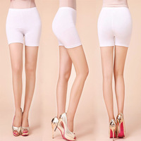 2014 Sports Style Lady Casual Dancing Shorts Plus Size M-4XL New Summer Clothing Women Skinny Capris Pants Black & White