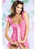 10 PCS Sexy lingerie sexy and stylish spring and summer clothes at home pajamas sexy lingerie lace black women white pink red