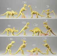 Animal model toys, dinosaur bones skeleton bones, fine workmanship, Tyrannosaurus rex fossil 12pcs/lot 9cm