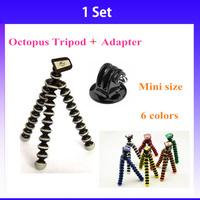 GoPro Flexible Camera Tripod Mini Octopus Bubble Tripod w/ Mount Adapter for Digital Camera Go Pro Hero 3+ 3 2 HD Accessories