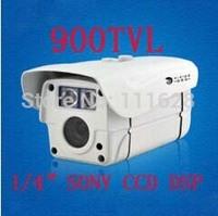 "Wholesale -1/4"" SONY CCD DSP HD 900TVL CCTV High Resolution 2 Array LED IR 30M Weatherproof Outdoor IR Camera 4/6/8/12/16mm Lens"