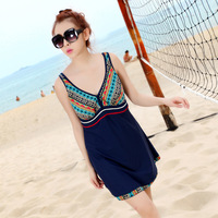 new sexy 2014 vintage bathing suit Swimming Swim Dress plus size swimwear Women Swimsuit XXL