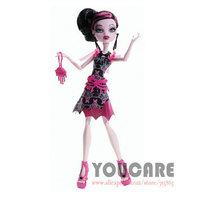 Monster High Frights Camera Action  Black Carpet Draculaura Doll Free shipping Best gift for girl 2014 new monster Hight  toys