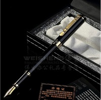 Free Shipping high-end Picasso 902 gold&silver fountain pen 0.5mm stainless steel pen gift box writer student office special pen