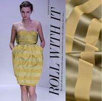 stripe silk fabric fashion heavy silk blended cloth StellaMaCarteny showing fabrics 34mumi yellow