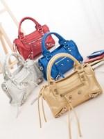 2014 new fashion tassel rivet motorcycle bag mini women  handbag shoulder bag messenger bag