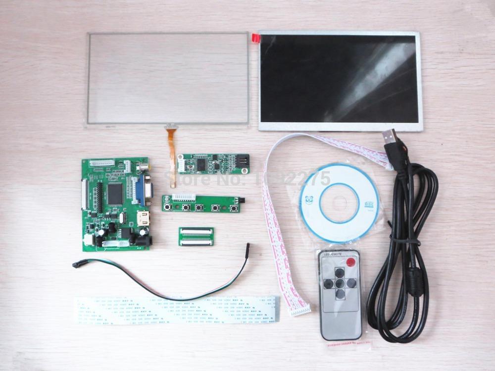 """Hongkong Post Free Shipping ! 7"""" LCD Monitor Touch Screen For Raspberry Pi HDMI+VGA+2AV Control Board Driver AT070TN92(China (Mainland))"""