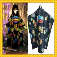 Free Shipping Custom Made Hell Girl Anime Cosplay Enma Ai Kimono Party Costume,1.5kg/pc