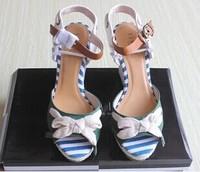 Summer Women's Open Toe Button Straw Braid Wedges Platform Beach Sandals Women's Bohemia Female Shoes Sexy Bowtie Footwear