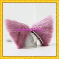 Free Shipping Kawayi Maid Cosplay Party Hair Clip Pink Headwear,Fox Cat Ears,100g/pair