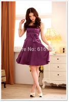 Free Shipping 2014 Fashion Uncommon Satin Party  Dress