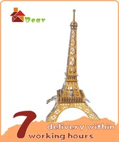 new 2014 Eiffel Tower 3d wooden building kit adult model puzzle free shipping