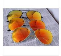 Fashion Classic Vintage Metal RB  Aviator Driving Mirror Gradient Sunglasses