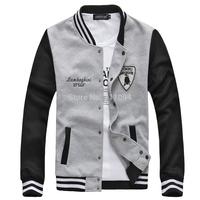 2014 Men's clothing base cardigan slim stand collar sweatshirt outerwear fashion sweatshirt jacket