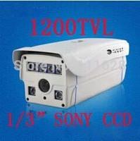 "Wholesale - 6 Array LED IR 80M 1/3"" SONY CCD HD 1200TVL High Resolution 4/6/8/12/16mm Lens Weatherproof Outdoor IR CCTV Camera"
