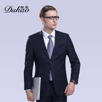 Free shipping 2014 New Men's Business Suit Suits Set Two Buckle Male Suits Western-Clothes Top+Pants 3016