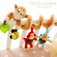2014 Sozzy Multifunctional Car bed Hanging Ded Bell Baby Educational Monkey Toys Rattles,Children's Gift SHD-939