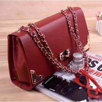 2014 women bags wholesale fashion casual charm influx of women temperament metal bag lock bag corners,Z854
