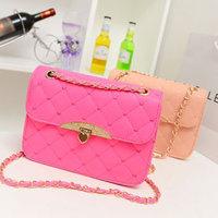 Handbags,Heart lockbutton plaid stitch women's handbag chain shoulder bag cosmetic bag h275,Free Shipping