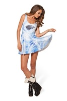 New 2014 Sexy summer sundress 3D Wolf printed skater dress vintage pleated dress Dresses for women 6100514