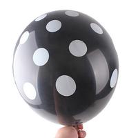 12 inch Polka Dot Latex Balloons BLACK Happy Birthday Day Wedding Party Decoration Free Shipping