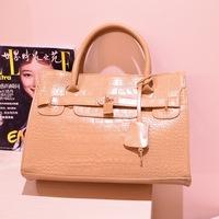 handbags European and American fashion casual charm documents bag  tide bag big bag belt buckle handbag,1045