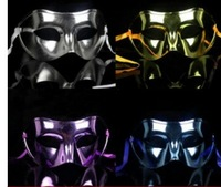 Party show mask electroplating flat half face masquerade   mask