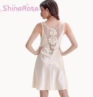 free shipping summer sexy strap V neck faux silk temptation women sleepwear nightgowns