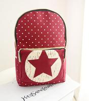 2014 Korean version of the new fashion shoulder bag backpack little pentagram