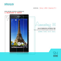 NILLKIN Amazing H Nanometer Anti-Explosion Tempered Glass Screen Protector For Sony L39h Xperia Z1,MOQ:1PCS