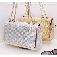 Handbags,Plaid pattern metal overlock chain shoulder strap shaping women's handbag shoulder bag cosmetic bag h273,Free Shipping