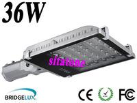 free shipping sale AC85-265V 12v 24v 36W led street light  IP65 130-140LM/W LED 36*1w 3 year warranty