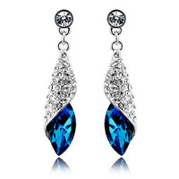 2014 new 2014 Designed Austrian crystal earrings sea thoughts - Desert multicolor hot sale