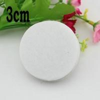 3cm white color Round Felt fabric pads accessory patches circle felt pads flower patch DIY fabric flower accessories 250pcs