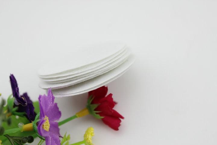 3 см белого цвета круглая войлочная