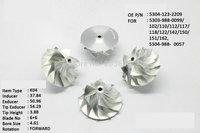 K04 53041232209 billet compressor wheel for turbocharger  6+6