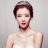 New korean style bride blaze crystall Hairwear married bride crown sweet forehead decoration accessories Free shipping