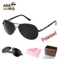 High Quality Pilot Frog Drvier Sunglasses Men Polarized with Polaroid Lense Outdoor Finishing Sunglass UVA Glasses Masculino