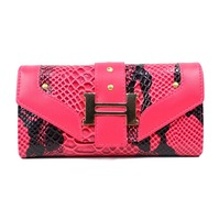 2014 foreign trade crocodile purse with chain inventory clearance bag Hot wallet D12912