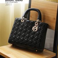Handbags,elegant plaid japanned leather vintage shaping bag portable women's handbag h121,Free Shipping