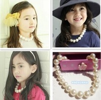 female children's princess pearl necklace to restore necklace oversize pearl imitation pearl necklace jewelry accessories