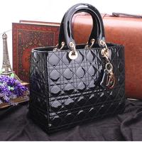 New 2014 classic Parcel Paint calfskin leather Mimi totes women messenger bags handbags women famous brands Handbag shoulder bag