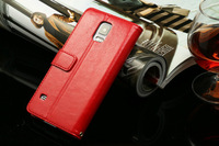 Good Quality Folio Wallet Leather Case Cover Skin with Stand for Samsung GALAXY S5 i9600