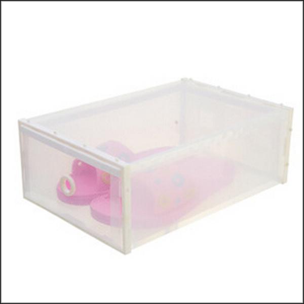 New chegou 1 pçs/lote 35 x 24.5 x 13.5 cm branco Border transparente gaveta caixa de sapatos de afiação de espessura dividida caixa de armazenamento plástica(China (Mainland))