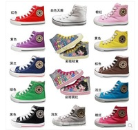 Free Shipping Special shoes zipper on side lace-up children's shoes children sneakers girl canvas high shoes boy canvas boots