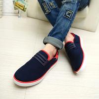 1pairSpring 2014 new explosion models of mixed colors wholesale Korean fashion men's fashion canvas shoes men shoes breathable m
