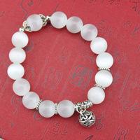 Korean cat's eye Opal jewelry natural crystal white bracelet exquisite ball bracelet Pulseiras bijoux Schmuck  joyas