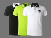 AR EA 2014 New Summer Selling Men's T Shirt FashionTurn-down Collar Cotton Male's Tees Sport Brand Boys' Tops Size:M-XXL 5305