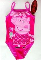 New 2014 Summer Hot Fashion Girls Peppa Pig swimsuit Baby Swimwear Toddler Swimsuit  Peppa Pig One-piece 2-6 Yrs Tankini Bathing