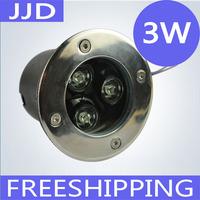 NEW IP68 AC12V/24V 3W LED Underground light, LED Deck Light, led inground light warm white/white/red/gree/blue/RGB